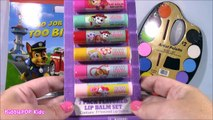 Paw Patrol Painting FUN! Paint Marshall Rubble and Chase with Watercolors! LIP BALM Pack!2