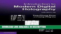 Audiobook Introduction to Modern Digital Holography: With Matlab [DOWNLOAD] Online