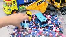 Play Doh Dots Pororo Truck Dump Tayo the Little Bus Toys 뽀로로 포크레인 꼬마버스 타요 장난감 YouTube