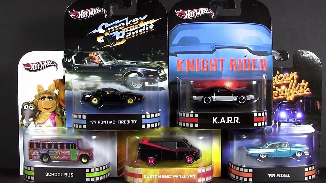 new Hot Wheels Cars Retro Entertainment Knight Rider KARR A-Team GMC Van  Smokey Bandit