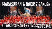 【YOSAKOI SORAN DANCE】IHARA SUISAN & HOKUSEI GAKUEN 2016.6.8 YOSAKOI SORAN FESTIVAL
