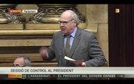 Topada entre Rabell i Puigdemont al Parlament