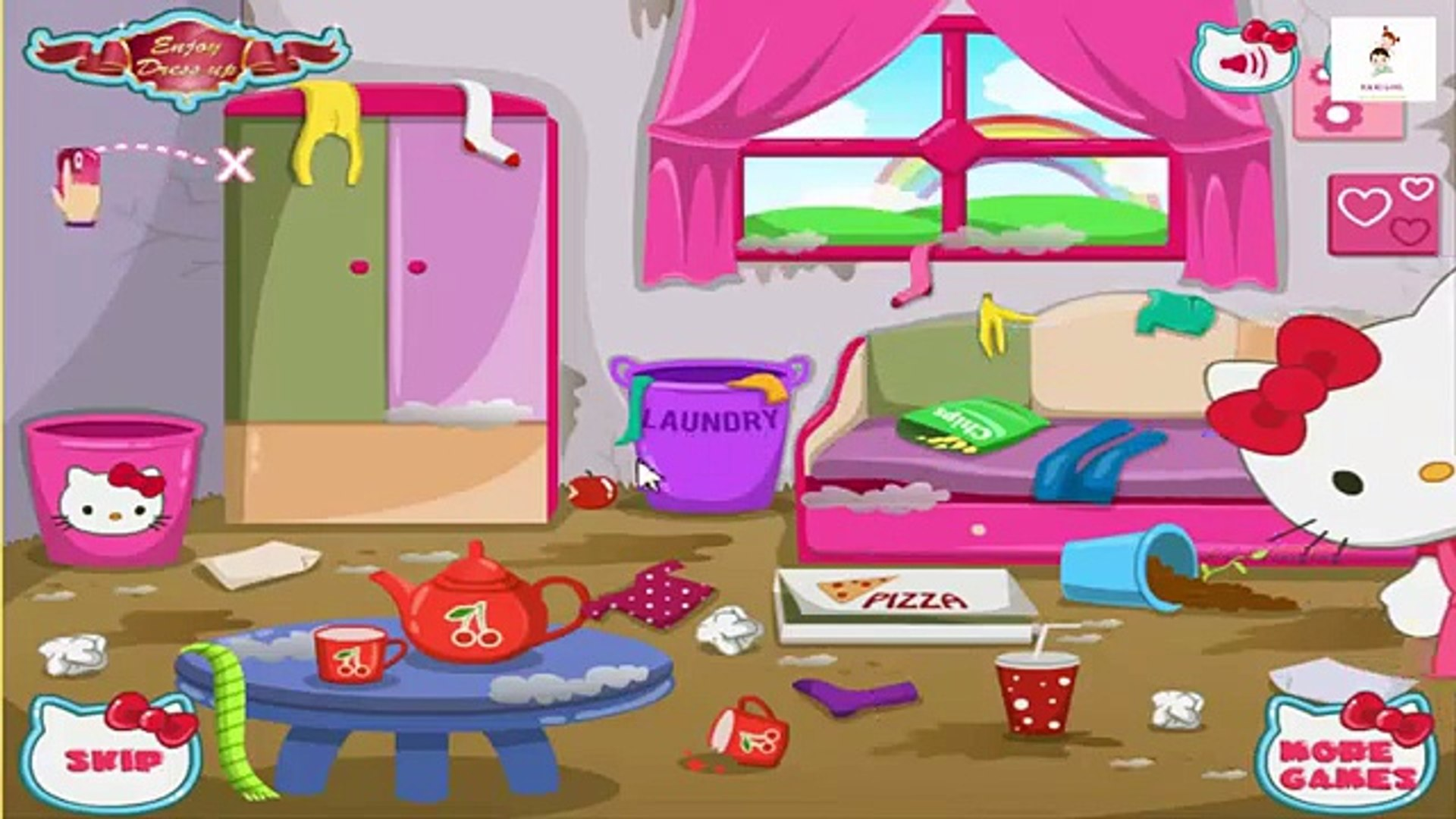 Hello Kitty House Makeover | Kid Games Movie | Game For Kids