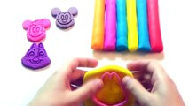 Learn Colors Play Doh Modelling Clay Castle & Mickey Mouse Chip n Dale Molds Creative Fo