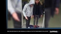 OM - PSG : Des supporters marseillais transforment un maillot parisien en paillasson