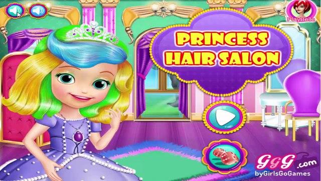 Disney Princess Movie Games-Sofia The First Hair Salon Gameplay-Girls Games