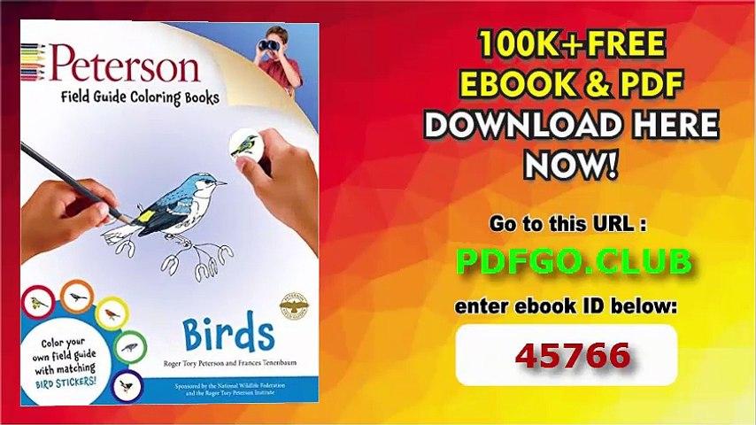Peterson Field Guide Coloring Books Birds Peterson Field Guide Color In Books