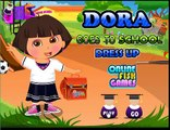 Dora the Explorer is preparing to go to school dress up Called Dora La Exploradora en Espa