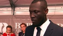 Stormzy is 'just happy to be' at the Brit Awards