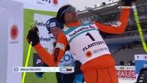 Les chutes d'Adrian Solano aux championnats du monde de ski nordique à Lahti