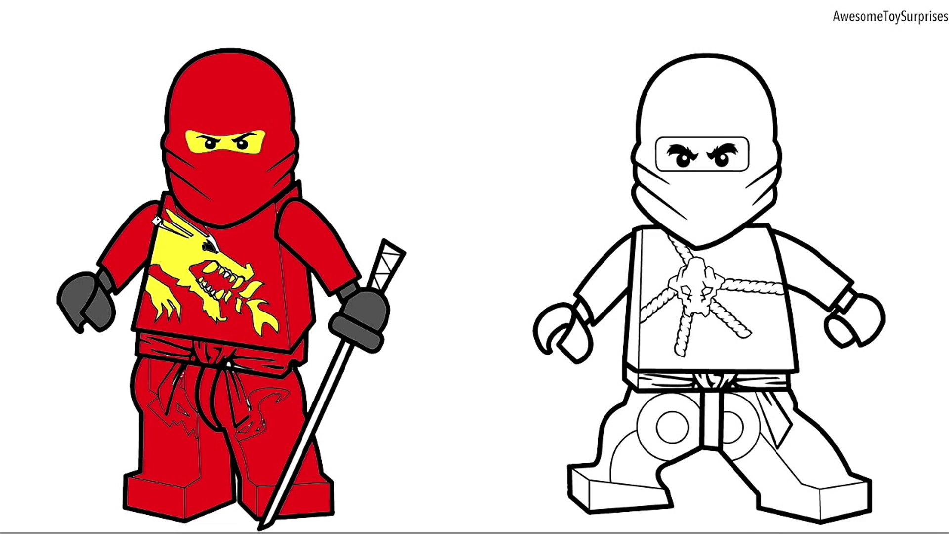 Lego Ninjago Jay And Lloyd Coloring Page Fun Coloring Activity For Kids Toddlers Childr Video Dailymotion