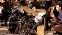 Little drummer boy || Amazing young boy playing drums || Drummer boy plays with orchestra