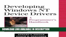 ebook download Developing Windows NT Device Drivers: A Programmer s Handbook PDF Online
