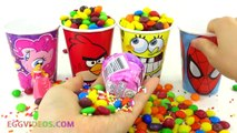 M&Ms Candy Surprise Toys in Cups Finding Dory Disney Princess Zelfs My Little Po