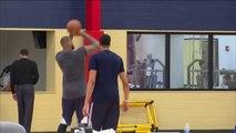 Le premier entraînement de DeMarcus Cousins aux Pelicans avec Anthony Davis