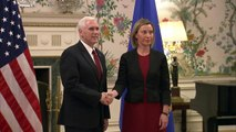 EU-US Mike Pence receives Federica Mogherini in Brussels_Tusk receives Mike Pence & press statements-SGAi95gWymw