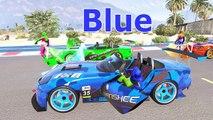 4 voitures colorées. Vidéo éducatif pour développement denfants. Apprendre les couleurs