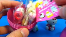 4 surprise eggs Kitty!!! HELLO KITTY eggs surprise unboxing toys for kids for ba