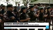 Turkey: historic ban on Islamic headscarf lifted in civil service