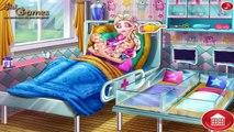 Congelados Elsa y Jack Frost tener un bebé Gemelos de la Princesa de Disney Embarazada de Compilación de Juegos de fo
