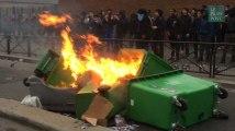 Les images des blocus à Bergson et dans les lycées parisiens contre les violences policières et en soutien à Théo
