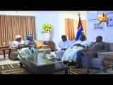 El hadj Ndiaye PDG 2STV - Origines SA reçu par SE le Président Adama Barrow