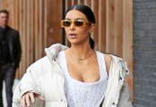 Kim Kardashian Bares Her Breasts In Corset Top For Lunch With Kourtney