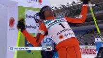 Ce skieur enchaine les gamelles pendant les  championnats du monde de ski nordique