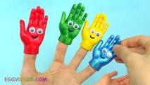 Aprender los Colores para Niños de Manos Pintadas Juguetes Dedo de la Familia Rimas Compilación EggV