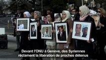 A Genève, des Syriennes réclament la libération des détenus