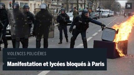 Manifestation sauvage, poubelles brûlées et lycées bloqués à Paris contre les violences policières