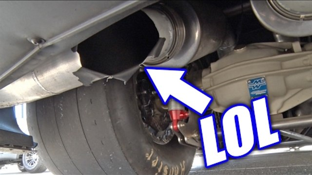 Muffler EXPLODES On Twin Turbo Camaro!