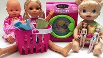 play doh disney lavadora y bebé ropa de la muñeca de juguete para los Niños Playset