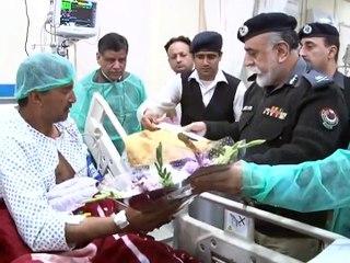 IGP KP Nasir Khan Durrani Visits Injured of Charsadda Attack at Lady Reading Hospital Peshawar