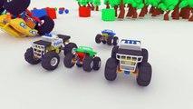 3D Big Monster Truck smash little monster trucks. Police Cars vs Evil Monster Truck _ kids videos-kbMhaUg5Lkw