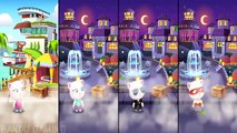 Talking Tom Gold Run - All 5 Angela Compilation - (Cyber Super Agent Neon) Christmas Updat