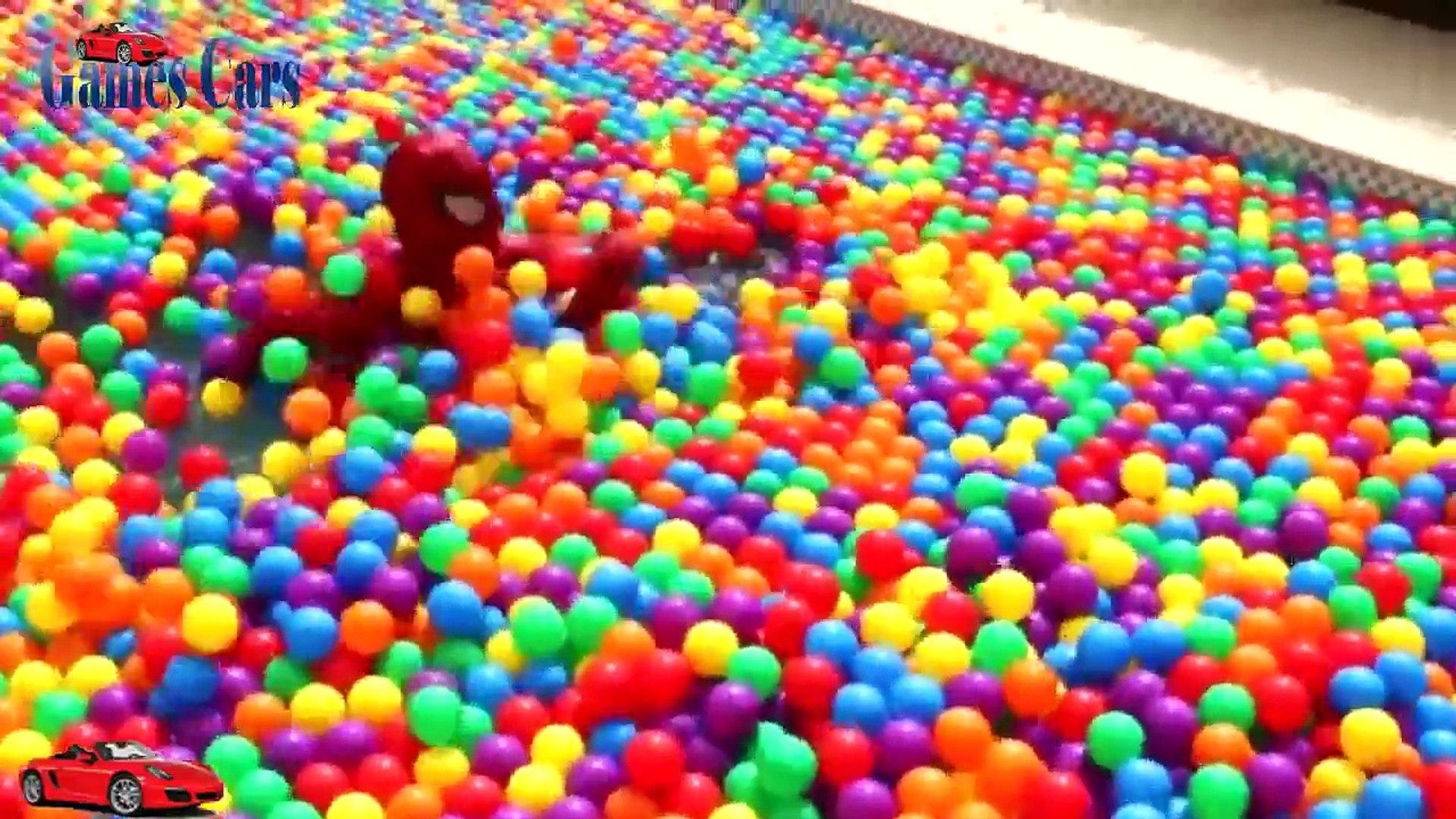 Más GRANDE la BOLA de HOYO de MOSTRAR PISCINA PARA SPIDERMAN Bolas de Colores para los niños los Niñ