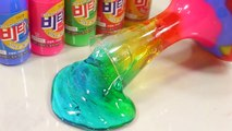 DIY How To Make Rainbow Slime Toys Kit 비타민+젤리 몬스터 무지개 액체괴물 만들기!! 흐르는 점토 액괴 클레이 슬라임 장난감 놀