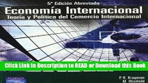 Download Free Economia Internacional (5ª ed. Abreviada): Teoria y Politica del Comercio