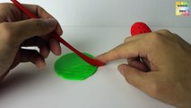Learn Colors Play Doh Strawberry Hello Kitty Molds Fun & Creative for Kids Rhymes EggVideo