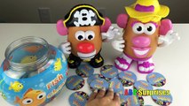 FISH & CHIPS Family Fun Kids Game Mr & Mrs Potato Head Learn COLORS Marvel Egg Surprise To