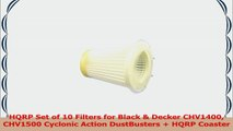 HQRP Set of 10 Filters for Black  Decker CHV1400 CHV1500 Cyclonic Action DustBusters  dc331d0c