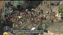 Usuários de drogas e policiais se enfrentam no centro de São Paulo