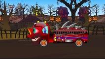 Del bien contra el Mal de Miedo de Camiones Monstruo 3D Para los Niños   Construcción de Calle de los Vehículos para Niños