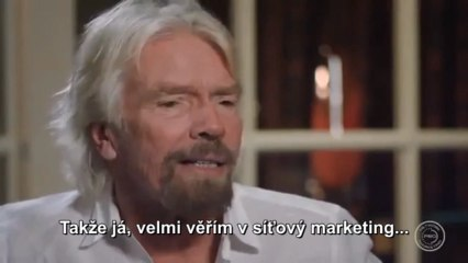 Richard Branson hovoří o síťovém marketingu