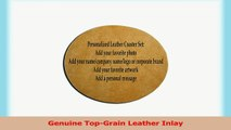 Custom Laser Engraved Leather Round Drink Coasters Spiritual  Om Mystical Sound 8ccca3e7