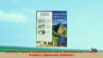 Lonely Planet Sudamerica para Mochileros Travel Guide Spanish Edition