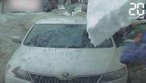 Une plaque de glace tombe violemment sur cet automobiliste ! - Le rewind du vendredi 24 février 2017