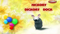 Hickory Dickory Dock | Nursery Rhymes With Lyrics | Nursery Poems | 3D Nursery Rhymes For Children