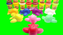 Play and Learn Colours with Play Doh with Apple with Duck Toys For Kids